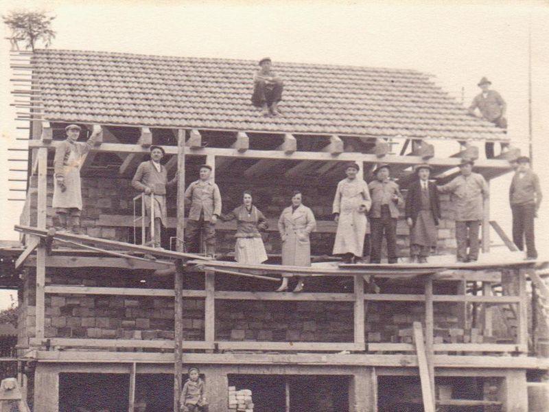Bau Vereinsheim 1938