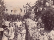 Gartenfest im jahr 1958