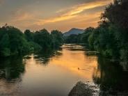 Morgen am Fluss